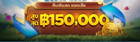HappyLuke คืนเงินสดยอดเสีย 150,000 บาท